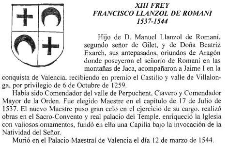 Maestre Francisco Llansol de Romani